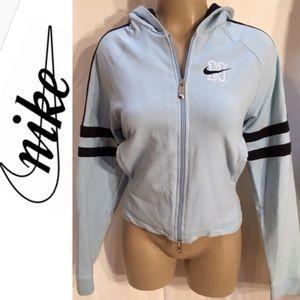 Nike Two Tone Blue Athleisure Hoodie Sport Jacket